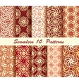 Ten Floral Seamless Pattern vector image