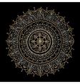 Mandala ornament golden pattern for your design vector image