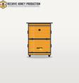 Beehive line vector image vector image