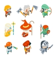 Fantasy RPG Game Characters Isometric Icons vector image