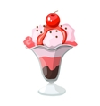 ice cream in a glass vector image