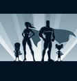 superhero family 2 girls vector image vector image