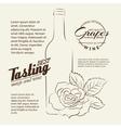 Handwritten wine tasting sign vector image vector image