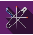 Flat icon for sewing vector image