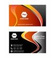 Orange business card design vector image