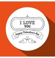 love and bird design  valentines related icon vector image