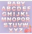 Cute baby alphabet vector image vector image