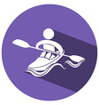 Sport icon design for kayaking vector image