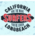 California surfers vintage stamp vector image
