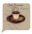 Cup Of Coffee Espresso Cartoon style vector image