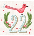 Cute Colorful Christmas Advent Calendar vector image