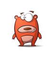 cute happy cartoon bear vector image