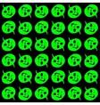 halloween - green pumpkin heads pattern vector image