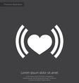heart beat premium icon vector image