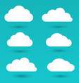 Messages in the form of white clouds vector image