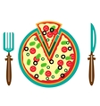 Picture of plate with pizza vector image