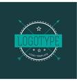 Vintage Hipster Design Element for Logo vector image