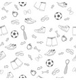 white and black seamless man way of life pattern vector image