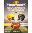 American Football Sport Poster vector image