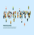 social people isometric template vector image