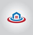Home abstract icon logo vector image