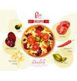 pizza diabola recipe vector image