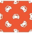 Orange car pattern vector image