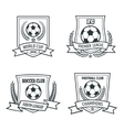 Soccer and Football Emblem Set vector image