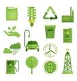 Ecology Decorative Flat Icons Set vector image