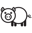 Cute animal pig - vector image