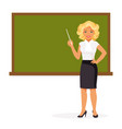 female teacher vector image