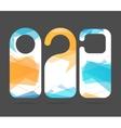 Hotel Door Labels Set vector image