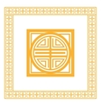 oriental design knot icon vector image