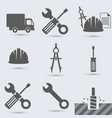 repair build instrument hammer car screw vector image