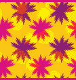tropical summer pineapple palm leaf pattern vector image