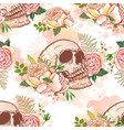 roses and skulls vector image