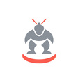 Japanese Sumo Wrestler Front vector image