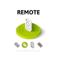 Remote icon in different style vector image