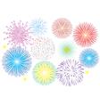 fireworks white vector image