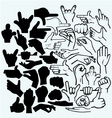 Set of many hand in a different phases vector image