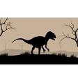 Silhouette of Tyrannosaurus vector image