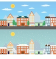 Summer and winter cityscapes vector image