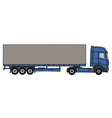Blue cover semitrailer vector image