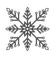 snowflake christmas decoration icon vector image