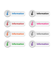 Information buttons vector image vector image