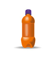 Soda Bottle with Cap vector image