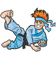 Karate kid vector image