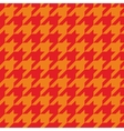 Houndstooth tile red and orange pattern vector image
