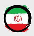 Iran circle flag vector image