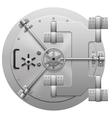 Metallic bank vault door isolated on white vector image